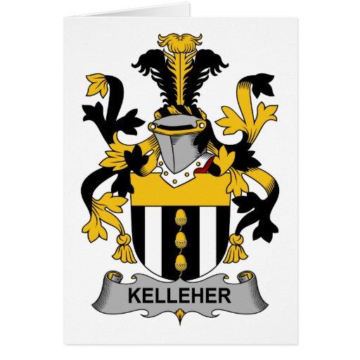Escudo de la familia de Kelleher Tarjeta De Felicitación