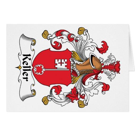 Escudo de la familia de Keller Tarjeta De Felicitación