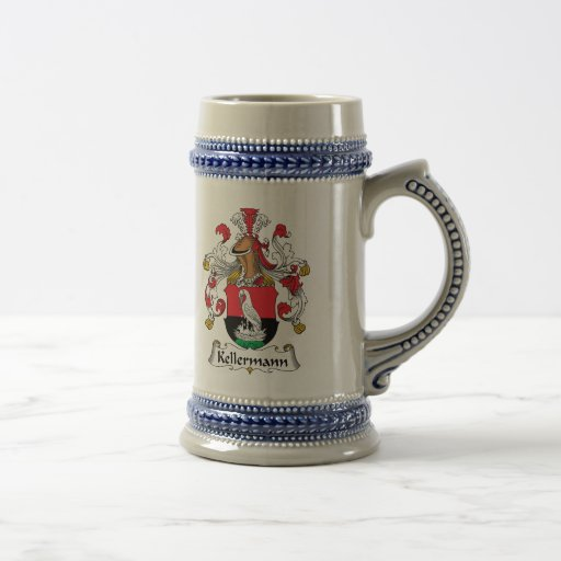 Escudo de la familia de Kellermann Tazas De Café