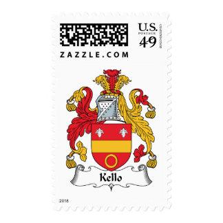 Escudo de la familia de Kello Timbre Postal
