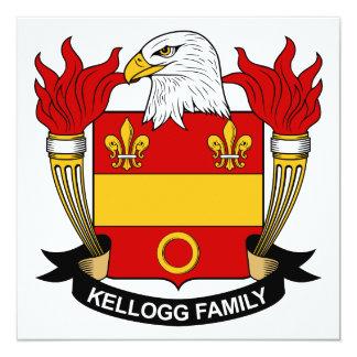"""Escudo de la familia de Kellogg Invitación 5.25"""" X 5.25"""""""