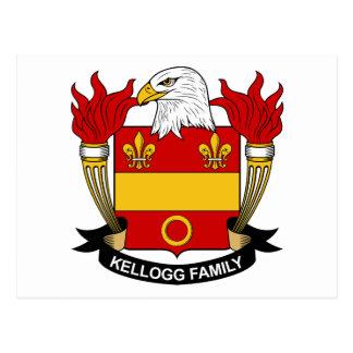 Escudo de la familia de Kellogg Tarjeta Postal