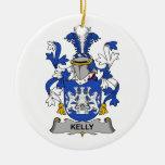 Escudo de la familia de Kelly Ornamento Para Arbol De Navidad