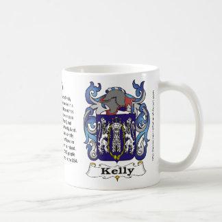 Escudo de la familia de Kelly en una taza