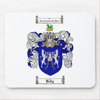 ESCUDO DE LA FAMILIA DE KELLY - ESCUDO DE ARMAS DE ALFOMBRILLA DE RATONES