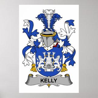 Escudo de la familia de Kelly Impresiones