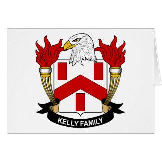 Escudo de la familia de Kelly Tarjeta De Felicitación
