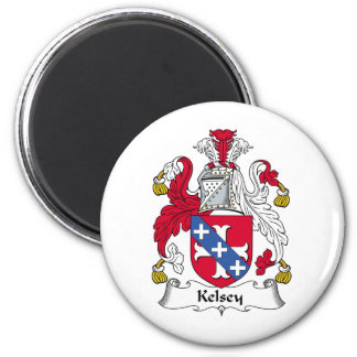 Escudo de la familia de Kelsey Imán Redondo 5 Cm