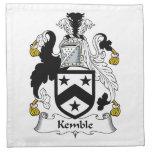 Escudo de la familia de Kemble Servilleta Imprimida