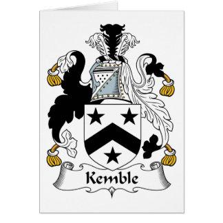 Escudo de la familia de Kemble Tarjeta De Felicitación