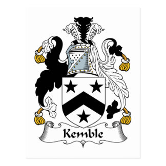 Escudo de la familia de Kemble Tarjetas Postales
