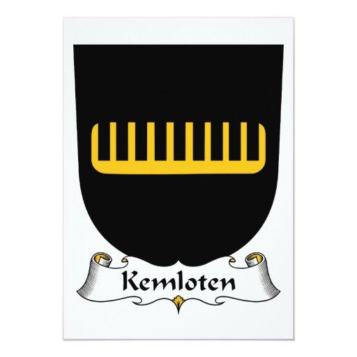 Escudo de la familia de Kemloten Invitación 12,7 X 17,8 Cm