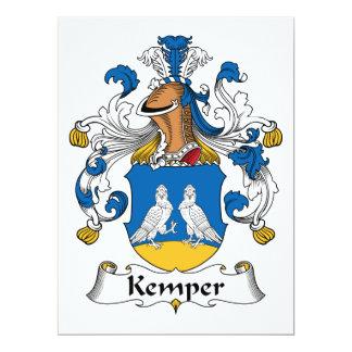 Escudo de la familia de Kemper Invitación 16,5 X 22,2 Cm