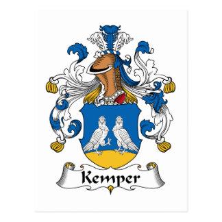 Escudo de la familia de Kemper Postales