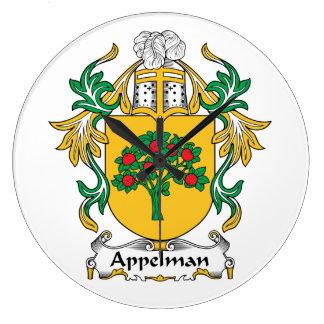 Escudo de la familia de Kempers Relojes De Pared