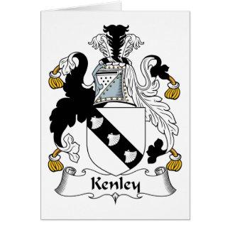 Escudo de la familia de Kenley Tarjeta De Felicitación