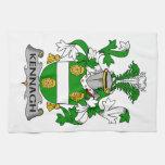 Escudo de la familia de Kennagh Toallas De Cocina