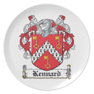Escudo de la familia de Kennard Platos De Comidas