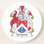 Escudo de la familia de Kennard Posavasos Para Bebidas