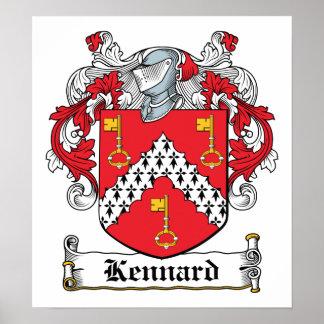 Escudo de la familia de Kennard Poster