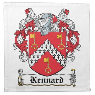 Escudo de la familia de Kennard Servilleta Imprimida