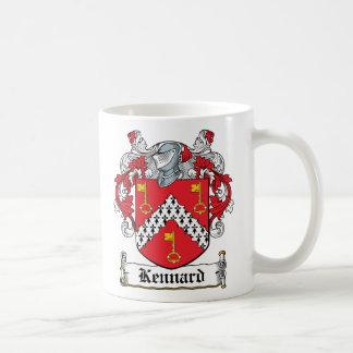Escudo de la familia de Kennard Tazas De Café