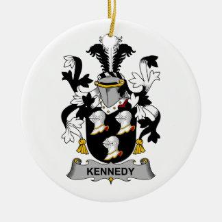 Escudo de la familia de Kennedy Adorno Navideño Redondo De Cerámica