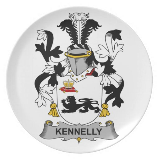 Escudo de la familia de Kennelly Plato De Cena