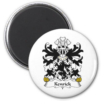 Escudo de la familia de Kenrick Imán Redondo 5 Cm