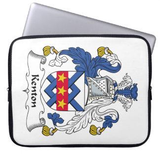Escudo de la familia de Kenton Fundas Portátiles
