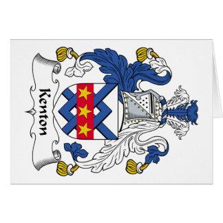 Escudo de la familia de Kenton Tarjeta