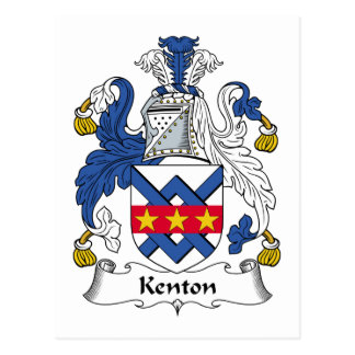Escudo de la familia de Kenton Tarjeta Postal
