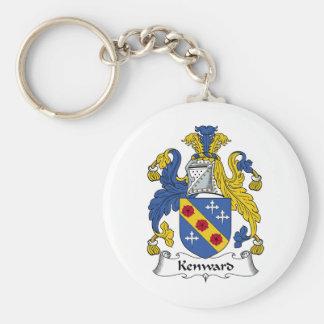 Escudo de la familia de Kenward Llavero Redondo Tipo Pin