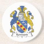 Escudo de la familia de Kenward Posavasos Para Bebidas