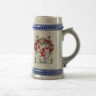 Escudo de la familia de Keogh Jarra De Cerveza