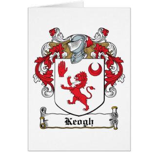 Escudo de la familia de Keogh Tarjeta De Felicitación