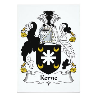 Escudo de la familia de Kerne Invitacion Personalizada