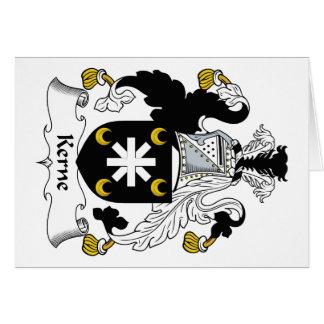 Escudo de la familia de Kerne Felicitación