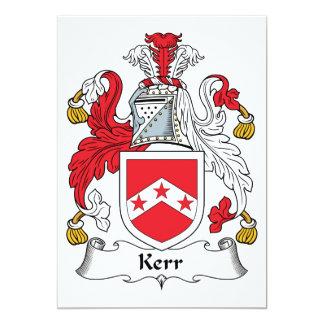 """Escudo de la familia de Kerr Invitación 5"""" X 7"""""""
