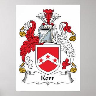 Escudo de la familia de Kerr Póster