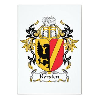 """Escudo de la familia de Kersten Invitación 5"""" X 7"""""""