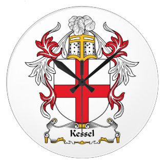 Escudo de la familia de Kessel Reloj Redondo Grande
