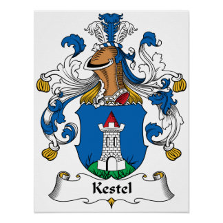 Escudo de la familia de Kestel Póster