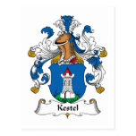 Escudo de la familia de Kestel Tarjeta Postal
