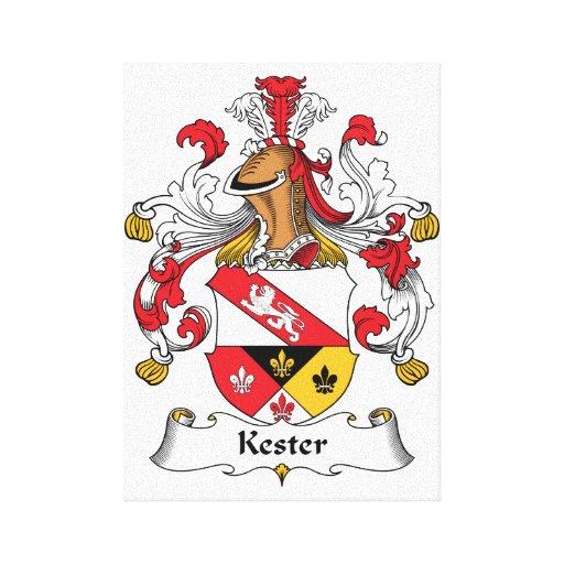 Escudo de la familia de Kester Impresion De Lienzo