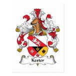Escudo de la familia de Kester Postal