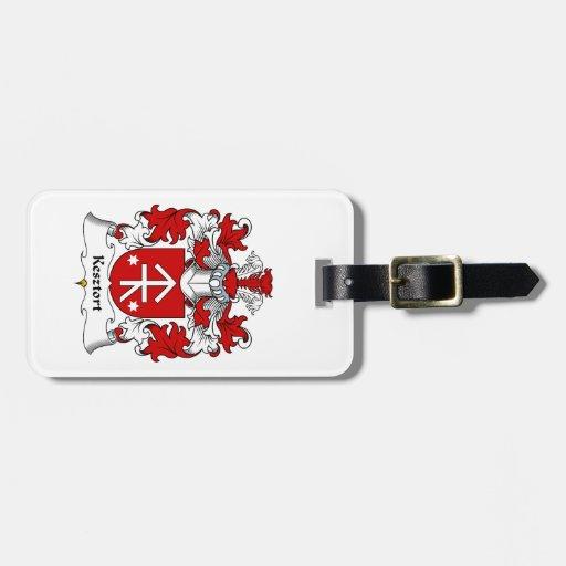 Escudo de la familia de Kesztort Etiqueta De Maleta
