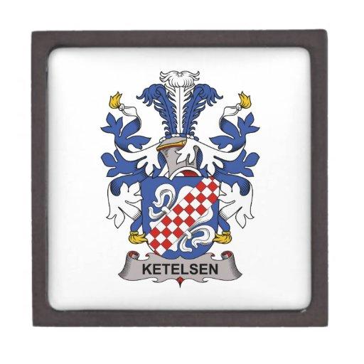 Escudo de la familia de Ketelsen Cajas De Regalo De Calidad