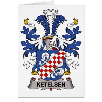 Escudo de la familia de Ketelsen Tarjeta De Felicitación