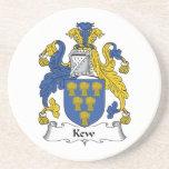 Escudo de la familia de Kew Posavasos Para Bebidas
